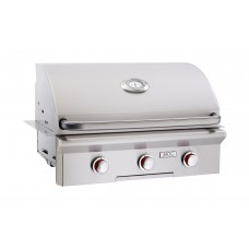 """American Outdoor Grill 30NBT(L)--30"""" Built-In Grill with Analog Thermometer"""