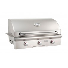 """American Outdoor Grill 36NBT(L)--36"""" Built-In Grill with Analog Thermometer"""