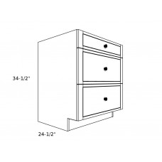 "3DB21----21"" wide Base 3 Drawer Cabinet"