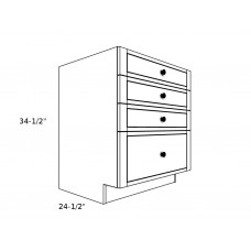 "4DB24----24"" wide Base 4 Drawer Cabinet"