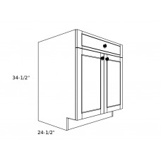 "B30D1----30"" wide Base 2 Doors 1 Drawer Cabinet"