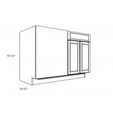 """B48BL----48"""" wide Blind Corner Base LH Cabinet"""