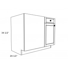 "B45BL----45"" wide Blind Corner Base LH Cabinet"