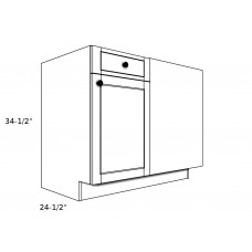 "B45BR----45"" wide Blind Corner Base RH Cabinet"
