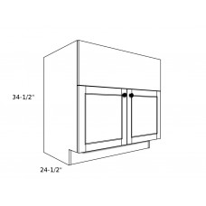 "GB3327----33"" wide Grill Base 2 Door Cabinet"