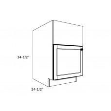"GB2127----21"" wide Grill Base 1 Door Cabinet"