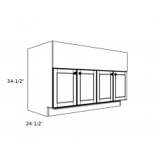"GB6327----63"" wide Grill Base 4 Door Cabinet"