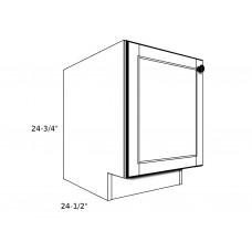 """PB12----12"""" wide Pedestal Base 1 Door Cabinet"""