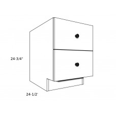 "PB18-D2----18"" wide Pedestal Base 2 Drawer Cabinet"