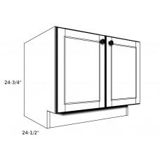"""PB27----27"""" wide Pedestal Base 2 Door Cabinet"""