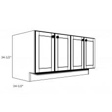 """PB48----48"""" wide Pedestal Base 4 Door Cabinet"""