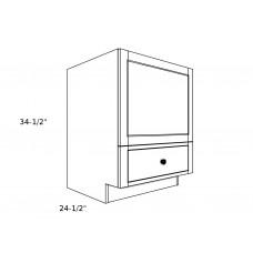 "MB24D1----24"" wide Base MIcrowave Base1 Drawer Cabinet"