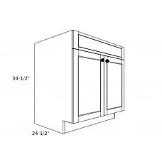 """SB30----30"""" wide Sink Base 2 Door Cabinet"""