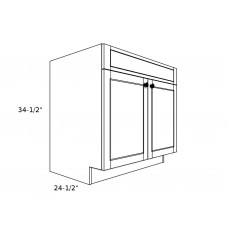 "SB36----36"" wide Sink Base 2 Door Cabinet"