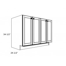 "SB54FH ----54"" wide Sink Base 4 Door Cabinet"