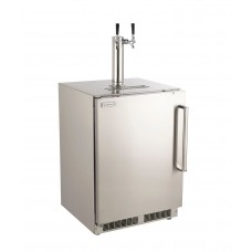 Fire Magic 24-Inch Right Hinge Outdoor Rated Dual Tap Kegerator - 3594