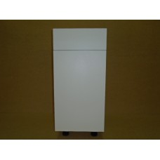 """POLY-B18D1-DTPO----18"""" wide Base 1 Door 1 Drawer w/Double Trash Pullout Cabinet"""