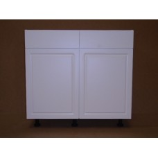 "POLY-B27----27"" wide Base 2 Doors 2 Drawer Cabinet"